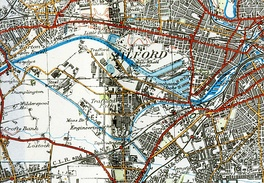 A 1924 map of Manchester Docks