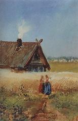Саврасов А. К. Кутузовская изба в Филях. 1860-е.