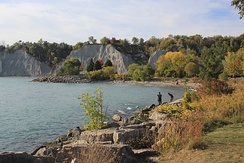 The Scarborough Bluffs is an escarpment along the eastern portion of the Toronto waterfront, which formed during the last glacial period.