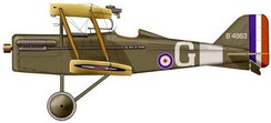 S.E.5a (200 h.p. geared Hispano-Suiza with 4-bladed propellor) of No. 56 Squadron RAF.
