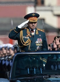 General Shoigu on the inspecting a Moscow Victory Day Parade. 9 May 2014