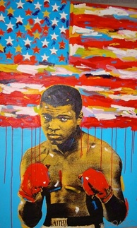 Muhammad Ali pop art painting by John Stango