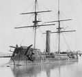 The French-built ironclad warship Kōtetsu (ex-CSS Stonewall), Japan's first modern ironclad, 1869