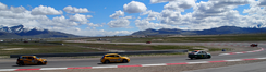 2011 GTS and Touring cars brake after first straight, Miller Motorsports Park