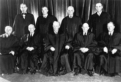 In the landmark case Brown v. Board of Education (1954), the U.S. Supreme Court under Chief Justice Earl Warren ruled unanimously that public school segregation was unconstitutional.