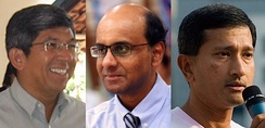 Yaacob Ibrahim, Tharman Shanmugaratnam and Vivian Balakrishnan, three Cabinet ministers in the 11th Parliament from minority communities who were elected through GRCs