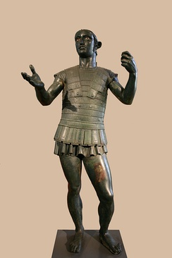 The Mars of Todi, an Etruscan bronze sculpture, c. 400 BC