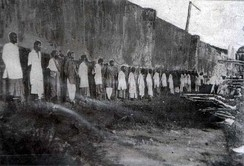 The public executions of convicted mutineers at Outram Road, Singapore, c. March 1915