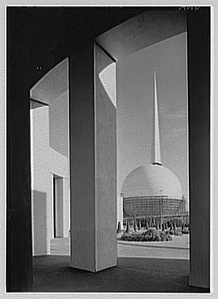 The Trylon and Perisphere, symbols of the 1939 World's Fair