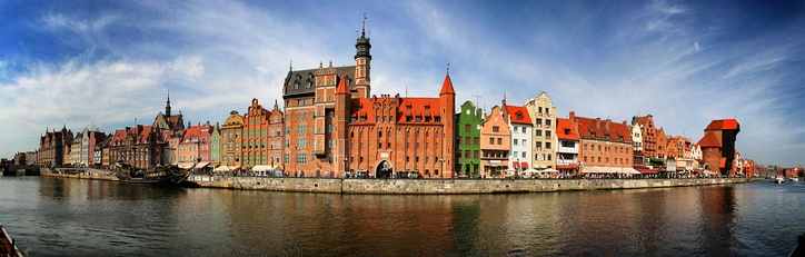 View of Gdańsk's Main Town from the Motława River (2012)
