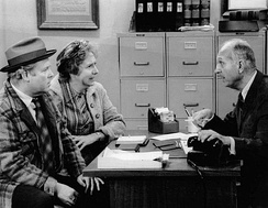 Publicity photo of O'Connor and Jean Stapleton in All in the Family, 1973