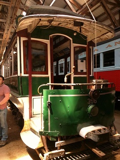 This former Boston streetcar was restored to its 1915 Boston Elevated Railway livery for scenes in the film.