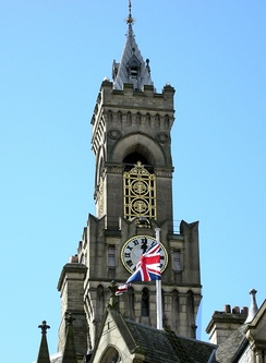 Bradford City Hall Tower and Flagpole