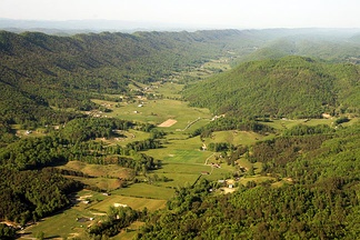 Ridges and valleys near Norton, Virginia