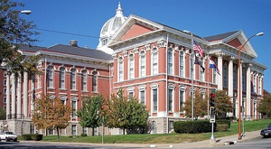 The Buchanan County Courthouse in downtown St. Joseph