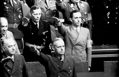 Clockwise from top left: Funk, Krosigk, Goebbels, Ribbentrop and Neurath during a Reichstag session, 1941