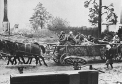 German refugees fleeing from East Prussia, 1945