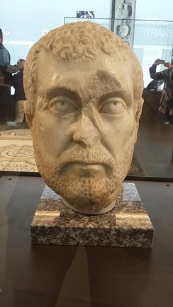 Head of Diocletian at the National Museum of Serbia