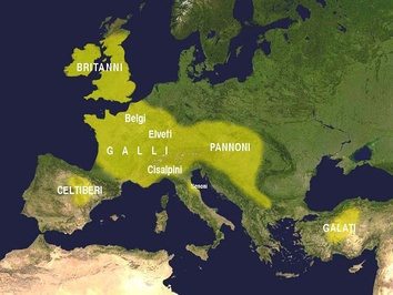 Expansion of the Celtic culture in the third century BC according to Francisco Villar[51]