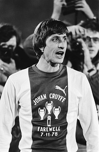 Johan Cruyff played at Ajax from 1959 to 1973, and from 1981 to 1983, winning 3 European Cups; his No. 14 is the only squad number Ajax has ever retired. Cruyff came back to manage the club from 1985 to 1988.