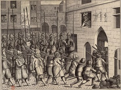 Departure of Spanish troops from Paris, 22 March 1594.