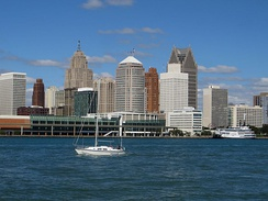 The Detroit River is one of the city's biggest tourist attractions.