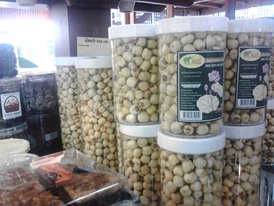 Dried lotus seeds snack for sale in Thailand
