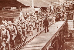 Portuguese troops embarking to Angola.