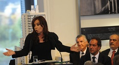 President Kirchner announces the bill to renationalize YPF