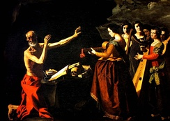 Jerome in the desert, tormented by his memories of the dancing girls, by Francisco de Zurbarán. Rome.