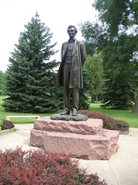 Lincoln the Debater by sculptor Leonard Crunelle, in Taylor Park