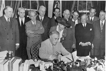 President Roosevelt signs the G.I. Bill into law on June 22, 1944
