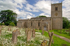 The Grade I listed Holy Trinity Church, Wensley, Richmondshire, dates from the 13th century but modifications were made in later years