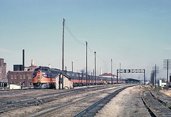 The City of New Orleans at Champaign, IL station on October 27, 1962.