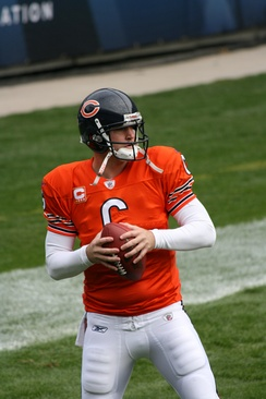 The Bears traded Kyle Orton and a first round pick to the Denver Broncos for Jay Cutler.