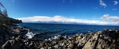 A view from the east shore of Lake Tahoe
