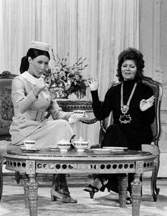 The Tasteful Lady (Lily Tomlin) entertains Rita Hayworth, 1971