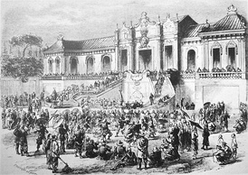 The Anglo-French forces pillage China's Summer Palace, October 1860.