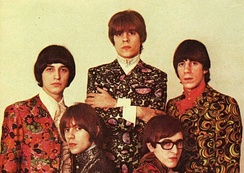 Argentine rock band Los Gatos in 1968, with psychedelic prints and British-inspired hairstyles.