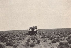 National Old Trails Road near Holbrook, Arizona around 1915