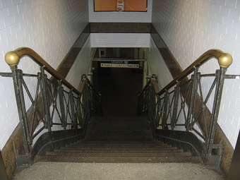 One of the last remnants of the original Penn Station, a staircase between tracks 3 and 4