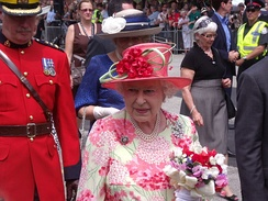 The Queen in Queen's Park, Toronto, during her 2010 royal tour.