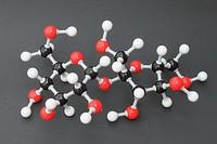 Статичное 3D-изображениемолекулы сахарозы
