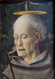 Bernardino of Siena (1380–1440), painted by Jacopo Bellini (c. 1400–1470)