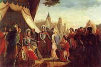King Afonso Henriques reconquered the city from the Almoravid Empire at the 1147 Siege of Lisbon.