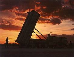 Lockheed Martin Terminal High Altitude Area Defense (THAAD) system used by the army for ballistic missile protection