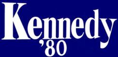 Kennedy's 1980 presidential campaign logo