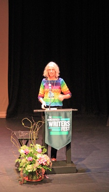 Jane Smiley speaking at the Vancouver Writers Fest on her 2014 novel, Some Luck
