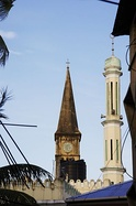 The main mosque and Anglican cathedral in Stone Town