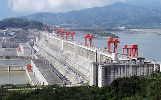 The Three Gorges Dam in Central China is the world's largest power producing facility of any kind.